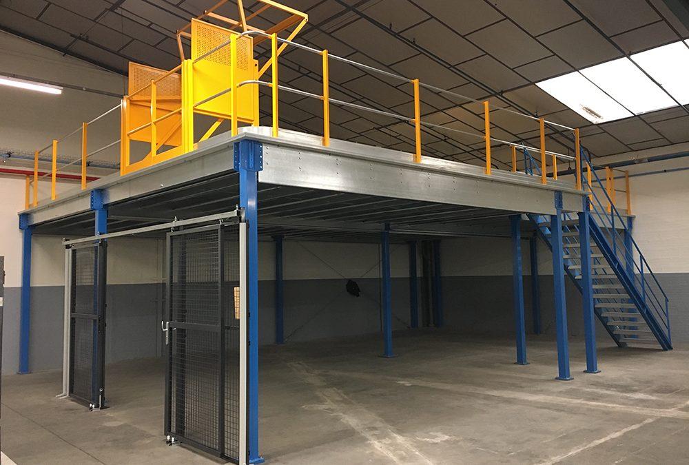 Plateforme industrielle de stockage
